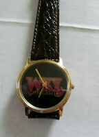 """VINTAGE 1980's WIND UP RADIO ADVERTISING WATCH """"WKY COUNTRY 930 AM"""" OKLA CITY OK"""