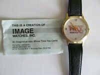 "VINTAGE 1990's WIND UP RADIO ADVERTISING WATCH ""WKY  930 AM"" OKLAHOMA CITY – NEW"