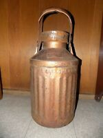 VINTAGE Shields Harper 5 GALLON OIL CAN with ELLISCO Lid Gas Garage Collectible