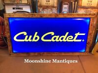 Vintage CUB CADET Lawn Mower / Tractor Lighted Sign - New Frame