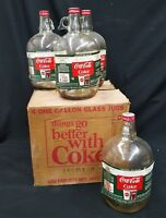 Vintage 1967 Case of Coca Cola One Gallon Syrup Bottles Set of 4 In Original Box