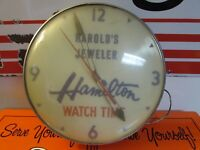 Vintage Harold's Jeweler * Hamilton * Watch Time Clock * Ohio Advertising