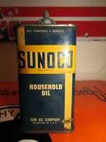 Vintage Sunoco Lead Top Household Oil Handy Oiler Can * 4 oz.