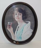 Coca Cola 1923 Advertising Girl w Glass Metal Tray dated 1973 Free Shipping