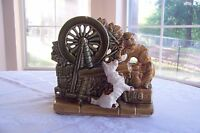 Vintage McCoy Spinning Wheel With Cat and Scotty Dog Planter 2 AVAILABLE