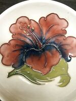 WILLIAM MOORCROFT POTTERY HIBISCUS Berry BOWL 4 1/2