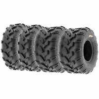 Set of (4) 21x7-8 & 20x10-8 ATV UTV All Terrain AT 6 Ply Tires A003 by SunF