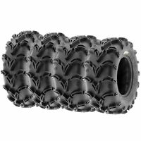 Set of 4, 25x8-12 & 25x11-10 Replacement ATV UTV 6 Ply Tires A050 by SunF