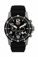 NEW Trintec Aviation Co-Pilot Chronograph Stainless Watch Quartz w 2 x Band