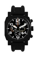 NEW Trintec NAV-01 Chronograph / Black Professional Pilot Watch w/extra Org band