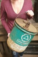 Vintage Cities Service Green 5 Gallon Oil Can Gas