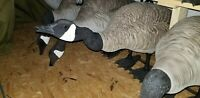 Professionally custom painted BigFoot Canada Goose Decoys - 54 with 4 bags
