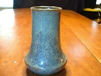 Vintage Japanese Art Pottery Vase with Crystaline Glaze