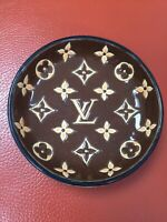 """Rare Louis Vuitton Special Edition Emaux de Longwy Dish Trinkets France """"As Is"""""""