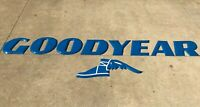 Brilliant Blue Goodyear Porcelain Letters Sign Wingfoot GORGEOUS!
