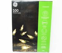 NEW Ultra Bright GE Clear 100 Miniature Indoor Christmas Tree or Outdoor Lights