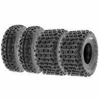Set of (4) 20x6-10 & 18x10-8 ATV All Terrain AT 6 Ply Tires A035 by SunF