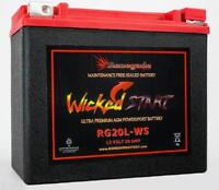 RG20L-WS YTX20L-BS CAN-AM OUTLANDER 1000, RENEGADE 1000, 500 CCA's ATV BATTERY