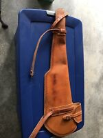 """Leather Rifle Scabbard 36"""" Basket Weave"""