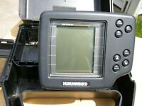 Humminbird Wide One Hundred Portable Fish Finder with transducer boat clamp
