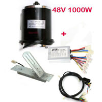 1000W 48V electric motor kit w Control box w Foot Pedal Wire scooter ebike ATV