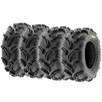 Set of 4, 25x8-12 & 25x10-12 Replacement ATV UTV 6 Ply Tires A048 by SunF