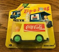 Vintage 1974 Durham's Zip-A-Long Coca Cola Delivery Toy Truck Soda Advertising