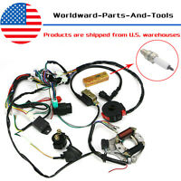 50CC-125CC CDI Wire Harness Stator Assembly Wiring Kit for ATV Electric Quad
