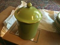 Vietri (Italy) CUCINA FRESCA Large Canister sage