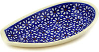 Polish Pottery Spoon Rest 5quot; Daisy Dreams