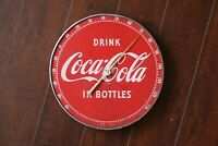 Vintage Coca Cola Thermometer Metal Wall Hanging - Drink in Bottles