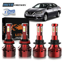 9005 H11 LED Headlights Kit High Low Beam 6500K Clear HID 60W 13200LM High Power