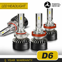 9005 H11 LED Headlights Kit High Low Beam 6000K White 120W 24000LM High Power