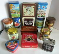 Hershey Chocolate Collectible Tins Hometown Kiss Cocoa Vintage 80-90's Lot of 14