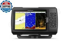 Garmin STRIKER Plus 7cv Fish Finder GPS Combo Track Plotter Transducer Fast New
