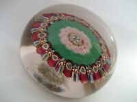 Early Ysart  Millefiori Paperweight With Unusual Pattern and Rough Pontil