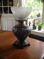 Exceptional Longwy Oil Lamp