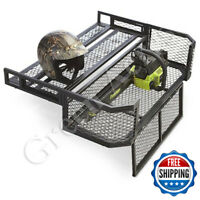Basket Rear Drop ATV Storage Rack Steel Cargo Hauler Carrier Farmer Universal