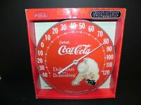 Coca Cola THERMOMETER Delicious and Refreshing w Original Box Free Shipping