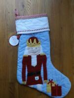 NWT Pottery Barn Kids Nutcracker Quilted Christmas Stocking 23