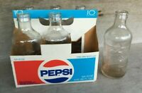 1970's Pepsi Cola Six Pack Carton 10 Oz One Way Bottles