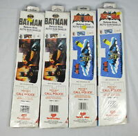 Lot 4 Vintage DC Batman Auto Sun Shields York Plastics 1989 Tim Burton Movie NEW