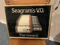 Vintage Seagrams VO Light Up Beer Sign