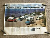 1972  Chevrolet special dealership showroom poster for rec. vehicles.