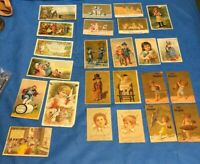 Lot Of 37 Victorian Trade Cards. Druggists, Soap, Starch, Sewing, Spices,
