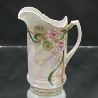 Antique NIPPON Hand Painted Pitcher Gold Moriage w/ Cherry Blossoms 10