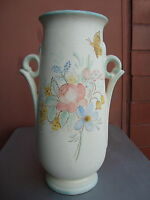Weller Hudson Perfecto 12.5quot; Floral amp; Butterfly Vase Dorothy England