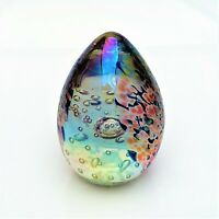 Glass Eye Studio's Iridescent Egg Shaped Paperweight GES92