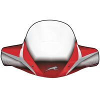 Textron/Arctic Cat ATV Red WindGuard Quick-Attach Windshield - 1436-591
