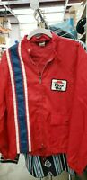 Vintage Pizza Hut Windbreaker Jacket Small Swingster Racer Stripe